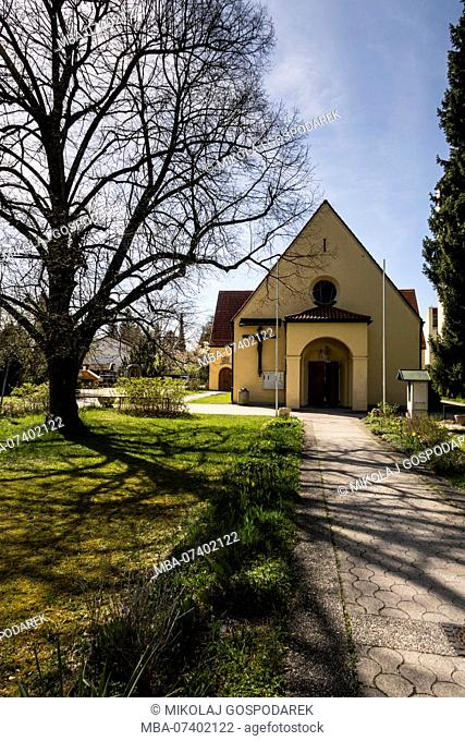 Europe, Germany, Bavaria, Unterhaching - Church St. Alto of Altomünster