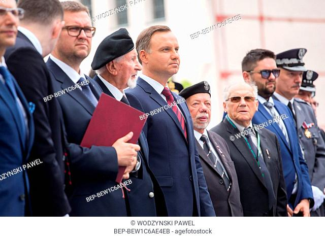 July 29, 2016 Warsaw, Poland. Meeting with participants of the Warsaw Uprising. Pictured: Andrzej Duda