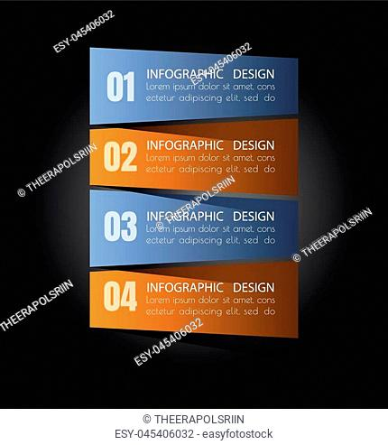 Business steb options banner. Can be used for workflow layout, diagram, number options, step up options, web template, infographics