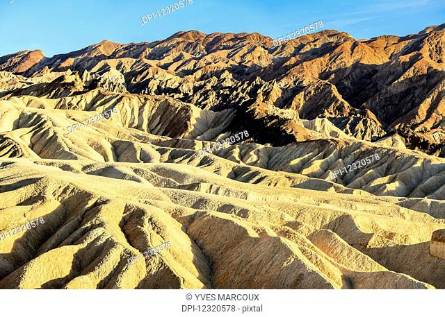 View from Zabriski Point at sunset, Death Valley National Park; California, United States of America
