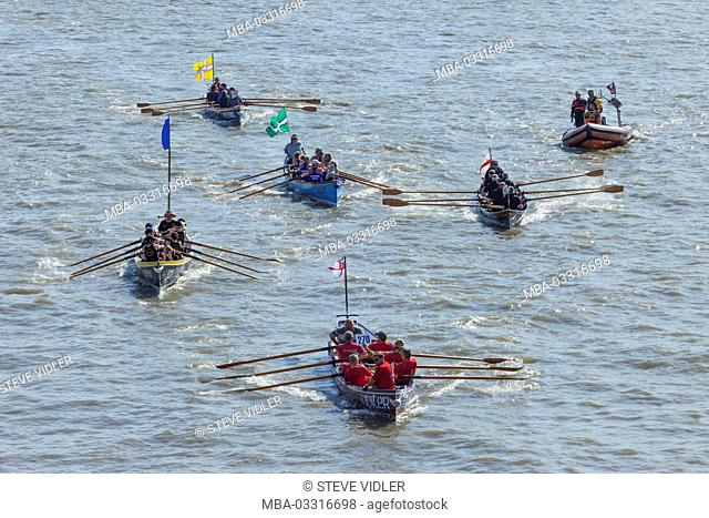 England, London, traditional boat race, Great River Race