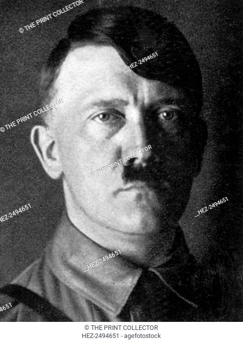 Adolf Hitler, Austrian born dictator of Nazi Germany, 1929. Hitler (1889-1945) became leader of the National Socialist German Workers (Nazi) party in 1921
