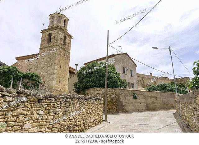 Parish church in Escorihuela is an ancient village in Teruel Aragon Spain