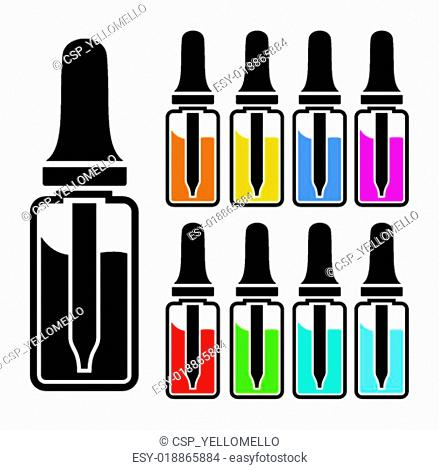 vaping liquid - vector sets