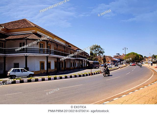 Government building at the roadside, Secretariat Building, Panaji, Goa, India