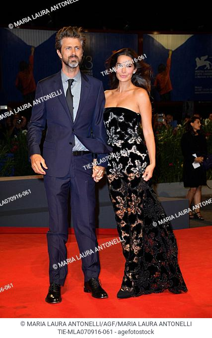 The director Kim Rossi Stuart and Ilaria Spada during the red carpet of film Tommaso at 73rd Venice Film Festival, Venice, ITALY-06-09-2016