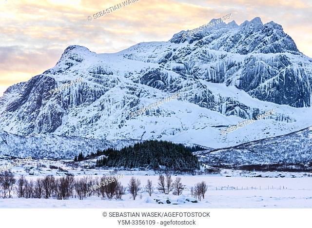 Flakstadpollen, Flakstadøya, Lofoten, Nordland, Norway, Europe
