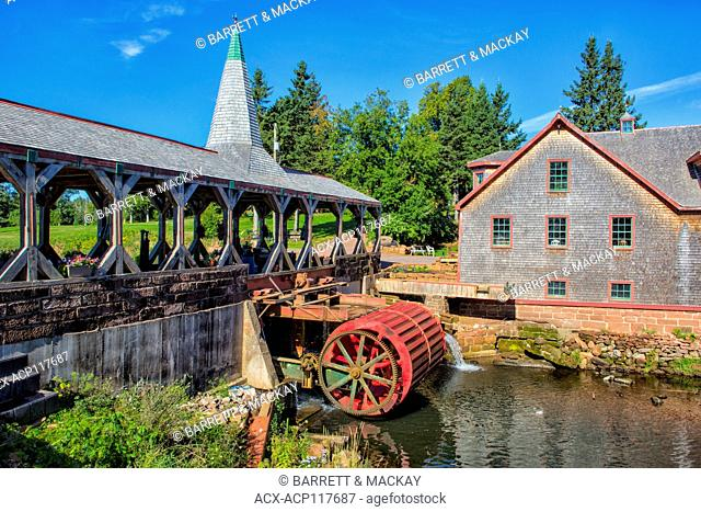Mill and covered bridge, Hunter River, Prince Edward Island, Canada
