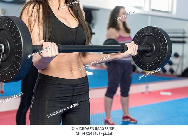 Body pump fitness class