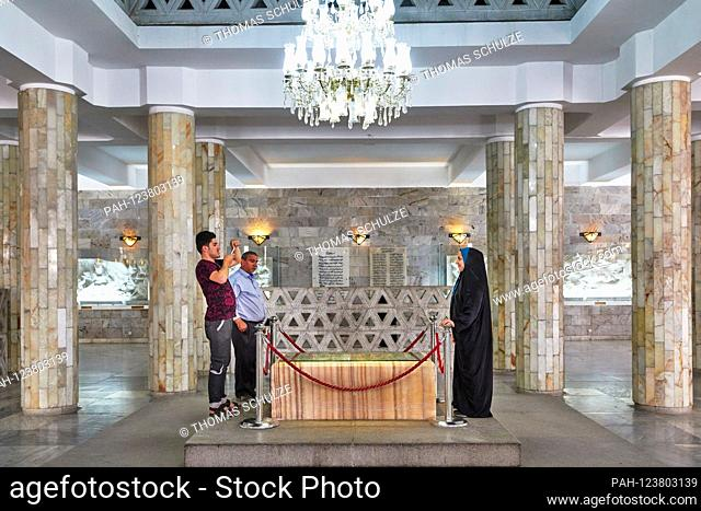 The tomb of the poet Firdausi (Abu l-Qasem-e Ferdousi) in the city of Tus near Mashhad in Iran, taken on June 15, 2017. He is the author of the monumental...