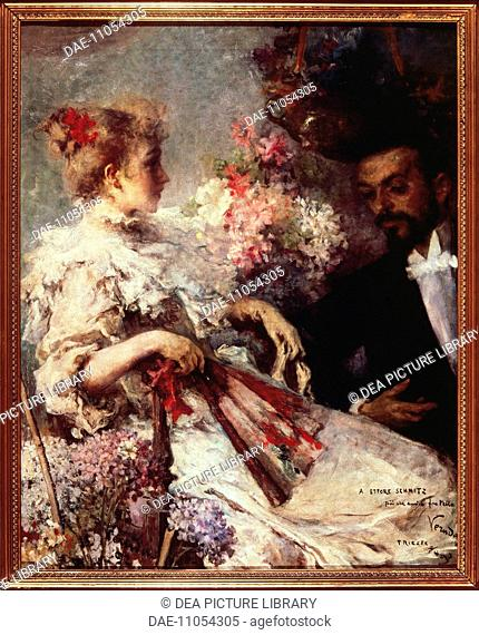 Umberto Veruda (1868-1904), Portrait of Italo Svevo (1861-1928), Italian writer, and his Sister Ortensia