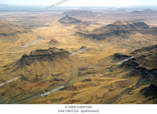 Aerial view, flight, Skeleton Coast, Swakopmund, Swakopmund, Erongo Region, Namibia, Africa, Travel, Nature