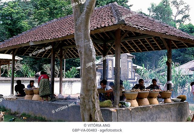 Narmada; typical food trade; Lombok; Indonesia