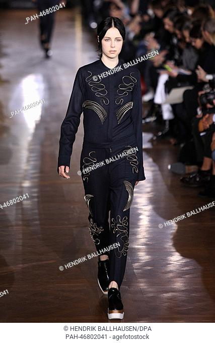 A model wears a creation by British designer Stella McCartney as part of  her fall  ac61fc672e3