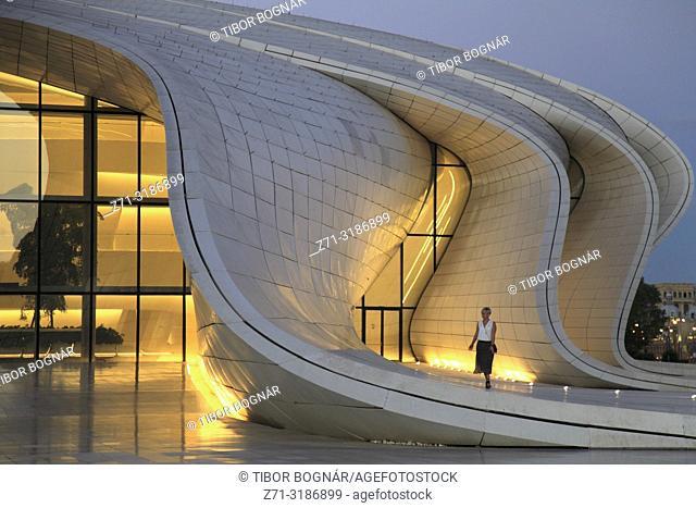 Azerbaijan; Baku, Heydar Aliyev Center,
