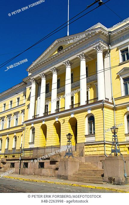 Government Palace (1822), housing office on Prime Minister and other government offices, Senate Square, Helsinki, Finland, Europe