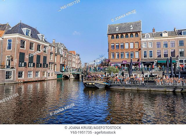 University town Leiden in South Holland, Netherlands