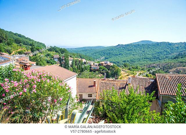 Overview and landscape. Las Casas del Conde, Sierra de Francia Nature Reserve, Salamanca province, Castilla Leon, Spain