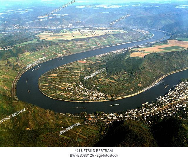 Rhine river at Boppard, Germany, Rhineland-Palatinate, Boppard