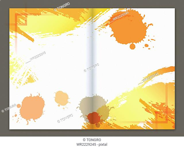 Brochure design with patterns of splashes
