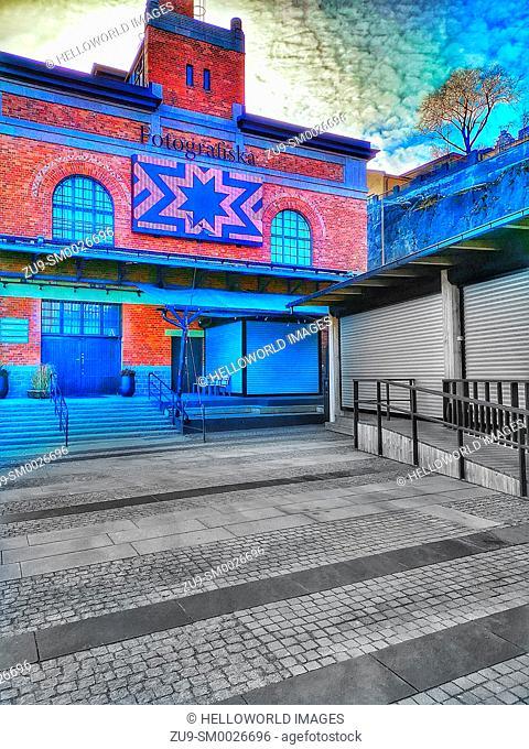 Fotografiska photography museum and collection, Sodermalm, Stockholm, Sweden, Scandinavia. Located at Stadsgardskajen in an Art Nouveau building built between...