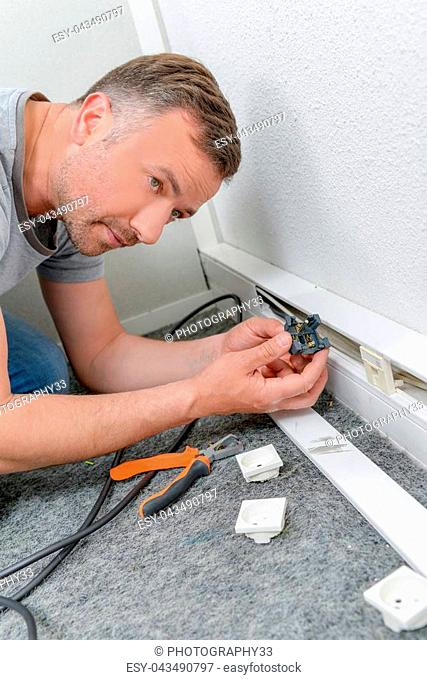Replacing a broken wall socket