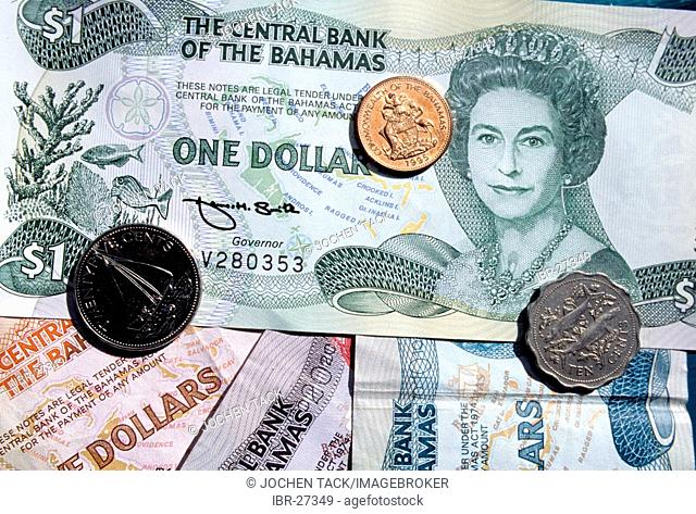 BHS, Bahamas: Local currency Bahams Dollar, coins and notes. Independent state in the West Indies, member of Comonwealth of Nations