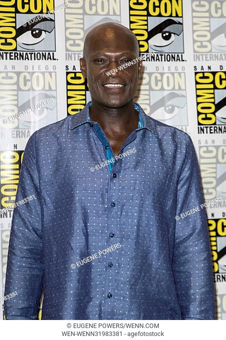 'Midnight Texas' press room at Comic Con 2017 in San Diego Convention Center Featuring: Peter Mensah Where: San Diego, California