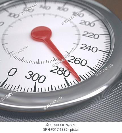Weighing scales dial