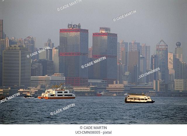 City center and harbor, Hong Kong