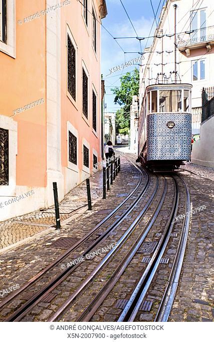 The Gloria Funicular, Lisobn, Portugal, Europe
