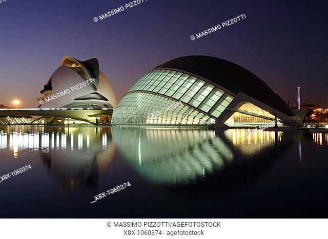 The Hemisferic and Palau de las Arts, City of Arts and Sciences, Valencia, Spain