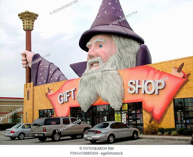 Orlando, FL, Florida, Kissimmee, gift shop, Disney souvenirs, giant wizard
