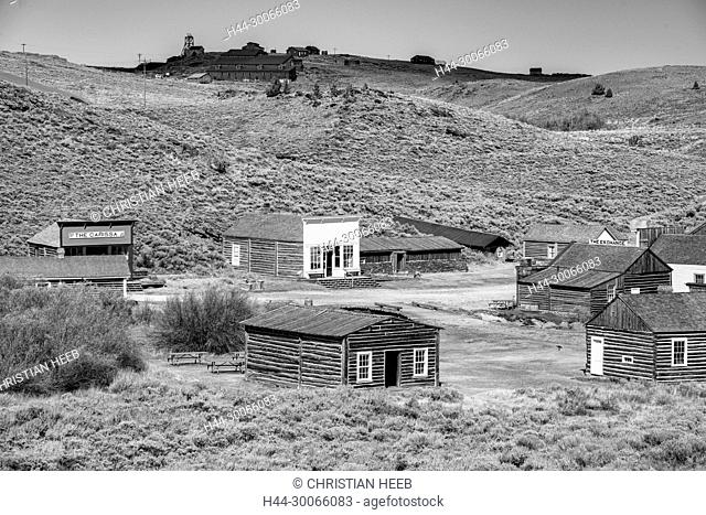 North America, American, USA, Rocky Mountains, Fremont County, Wyoming, Oregon Trail, South Pass City, Ghost town