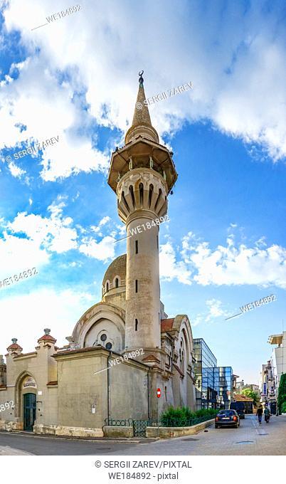 "Constanta, Romania â. "" 07. 09. 2019. The Great Mosque in Constanta, the famous architecture and religious monument in Romania"