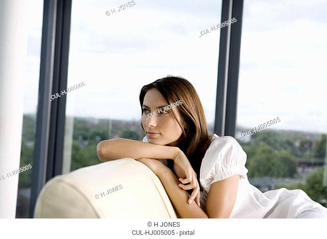 Woman on a sofa