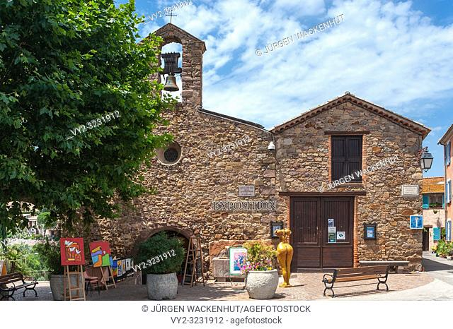 Chapel Saint-Michel, Roquebrune-sur-Argens, Var, Provence-Alpes-Cote d`Azur, France, Europe