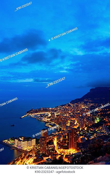 Aerial view of Monte Carlo, Monaco, Europe