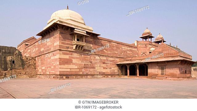 Jodhbai's palace, Akbar harem, UNESCO World Heritage Site, Fatehpur Sikri, Uttar Pradesh, India, South Asia