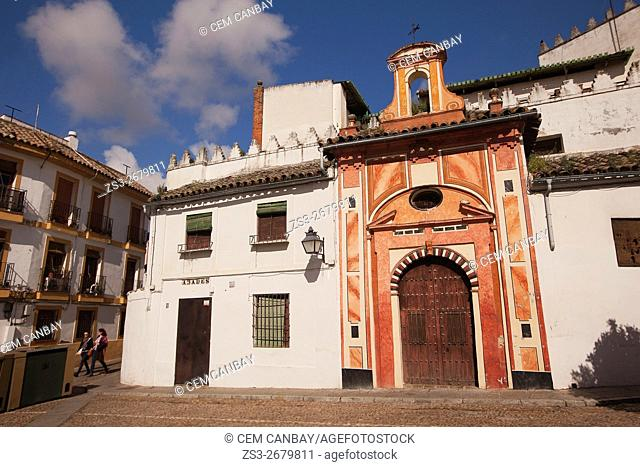 View to the Iglesia De Los Abades church in Plaza de los Abades, Seville, Andalusia, Spain, Europe