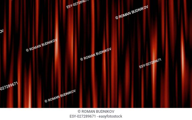 Highly detailed 3d animation of curtain. 3D rendered