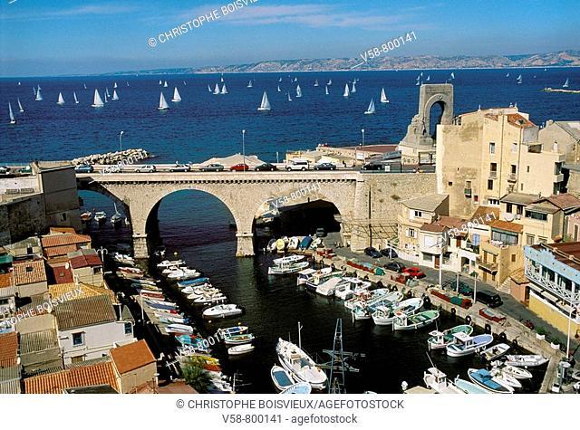 Vallon des Auffes, Marseille. Bouches-du-Rhône, France