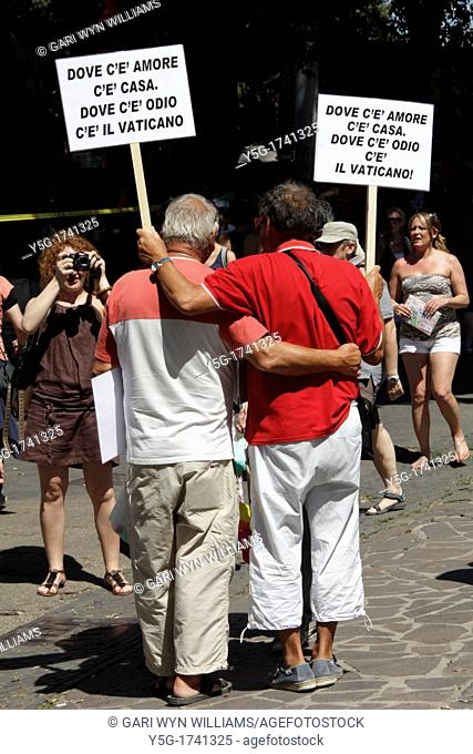 23 June 2012-Gay Pride Rally in Rome Italy