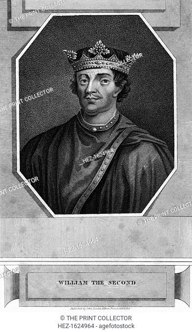King William II of England. Portrait of William Rufus (1056-1100), son of William the Conqueror