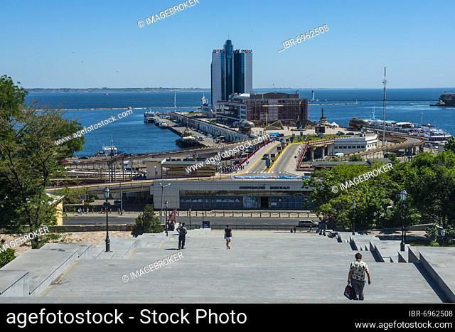 Potemkin Stairs, or Potemkin Steps, Odessa, Black sea, Ukraine, Europe