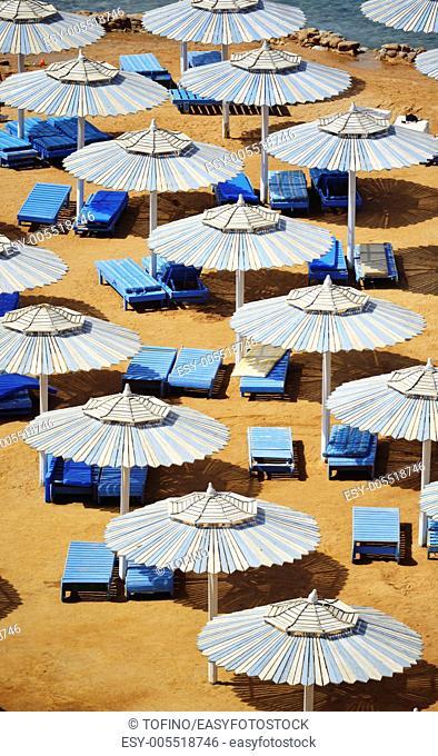 Sea beach during hot summer day
