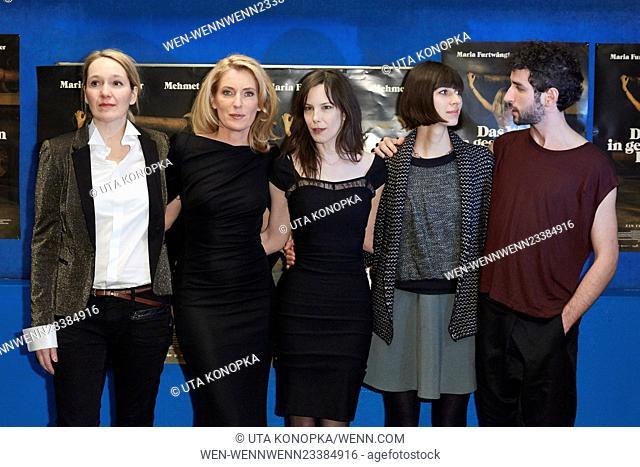 Celebrities at the premiere of the movie Das Wetter in geschlossenen Raeumen Featuring: Isabelle Stever, Maria Furtwängler, Anne von Keller, Maelle Giovanetti