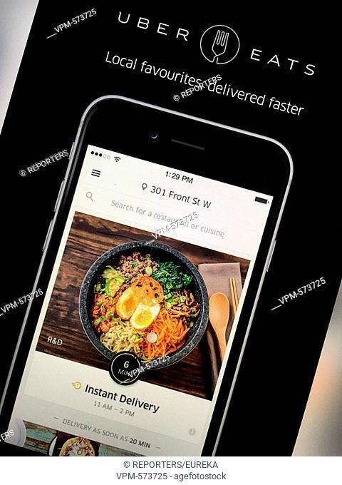 Uber eats,instant and on-demand meal and food delivery;Uber eats, livraison de restaurant a domicile Reporters / EUREKA
