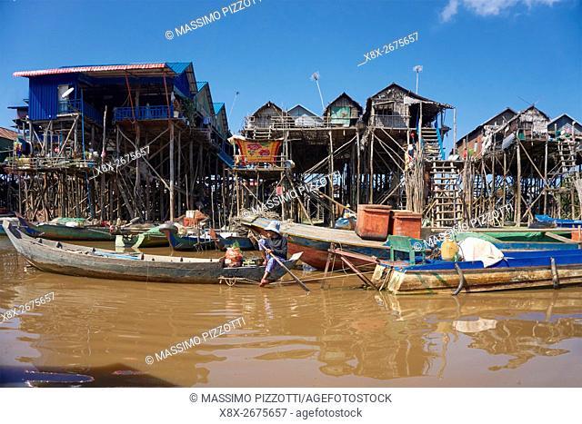 Floating village of Kompong Phluk, Siem Reap, Cambodia