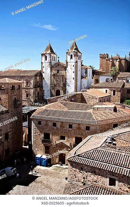 Monumental town of Caceres; San Jorge and old town